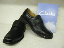 Clarks Hang Roll Black Leather Smart Shoes