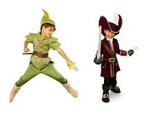 NEW Disney Store Boys' Halloween Costumes - Pick Peter Pan or Captain Hook NEW