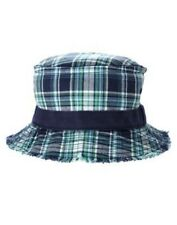 GYMBOREE DEEP SEA ADVENTURE BLUE PLAID BUCKET HAT 3 4 5 7 8 9 NWO-OT