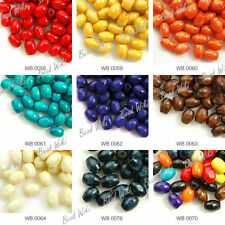 660pcs Loose Wood Wooden Rice Spacer Charms Beads 6x4mm Wholesale Free Ship