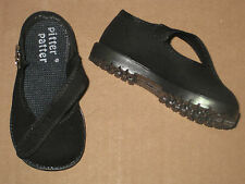 BLACK MARY JANES CANVAS SHOES Non Slip Sole Infant Toddler Girls Sz 1 to 10 NEW