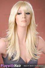 AWESOME!! Flicked Razored Cut Wig - COLOUR CHOICES! Blonde Red Platinum