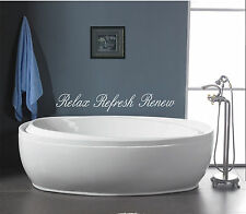 Relax Refresh Renew bathroom wall quote art vinyl decal sticker Removable