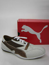 LADIES PUMA TRAINERS MILANO LFS WHITE / PINECONE BROWN 301839 01