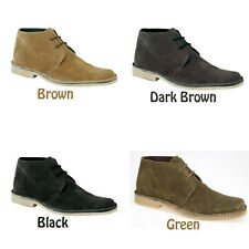 Mens New Suede Lace Up Desert Boots Gents Uk 6 - 12
