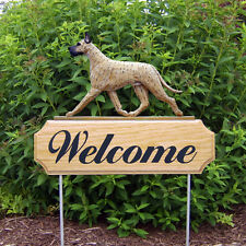 Great Dane Welcome Sign Stake. Home, Yard & Garden Decor. Dog Products & Gifts.