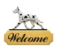 Great Dane Welcome Sign. Home,Yard & Garden Dog Wood Signs Products & Gifts.