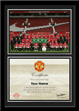 Football Club Squad Picture with your own Personalised No.1 Fan Certificate
