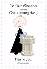 CHRISTENING DAY CARD SON DAUGHTER PERSONALISED CHOOSE ANY WORDING