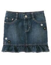 GYMBOREE BEE CHIC DENIM FLOWER SKORT 5 7 NWT