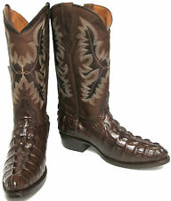 CROCODILE ALLIGATOR TAIL CUT DESIGN MANS WESTERN COWBOY BOOTS ROUNDED TOE