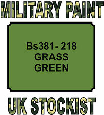BS381-218 GRASS GREEN MILITARY PAINT METAL STEEL HEAT RESISTANT ENGINE  VEHICLE