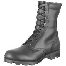 US ARMY SPEED LACE BLACK LEATHER COMBAT CADET MILITARY MENS HI-LEG BOOTS : 6-13