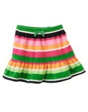 GYMBOREE CHEERY ALL THE WAY  MULTI COLOR STRIPE FLEECE SKIRT 3 4 5 6 7 NWT