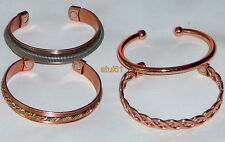 MAGNETIC PURE COPPER THERAPY BRACELET BANGLE UNISEX RHEUMATISM ease pain NEW