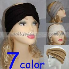 Headband Beanie Ear Warmer Knitted headwrap turban bow FREE SHIPPING