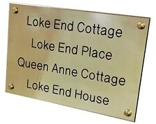 Traditional Solid Brass Plaque Memorial Bench Sign Plate Deep Engraved Free