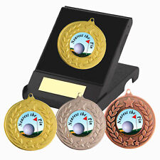 Golf Nearest the Pin Medal in Box F/Engraving, Nearest the Pin Golf Trophy Award