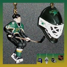 NHL DALLAS STARS MIKE MODANO FIGURE & LOGO GOALIE MASK OR HOCKEY PUCK FAN PULLS