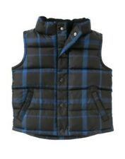GYMBOREE ICE HERO BLACK PLAID PUFFER VEST 3 4 5 6 7 8 NWT