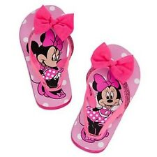 Disney Minnie Mouse Pink Bow Flip Flops Shoes Sandals Back Straps Clubhouse NEW