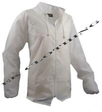New White Kagool Cagoule Unisex Hooded Rain Jacket Bowls / Golf  Wear S - XXL