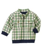 GYMBOREE SMART LITTLE GUY GREEN PLAID JACKET 3 6 NWT