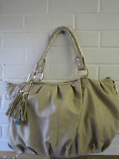 LADIES BULAGGI BEIGE AND GOLD HANDBAG