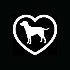 Labrador Retriever Heart Sticker Car Vinyl Decal Lab Dog Breed Lover Puppy Cute