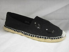 "LADIES ESPADRILLS SHOES ""BLACK"""