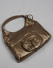 NWT Michael Kors Austin Leather Large Shoulder Tote Bronze