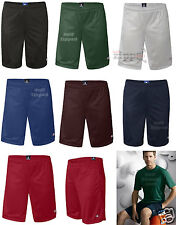 "Champion Mens Poly Mesh 9"" Inseam Gym Shorts with Pocket S162 S-2XL Basketball"