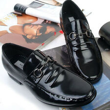 New Handmade Motion Black Leather Mens DressFormal Loafers Shoes