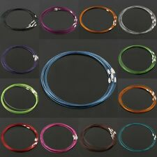 """1mm Wire Cable Steel Thread Beading Cord Rope Chain Choker Necklace Findings 18"""""""