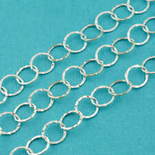 Sterling Silver Bulk Chain 7.2mmx8mm Flat link By Foot