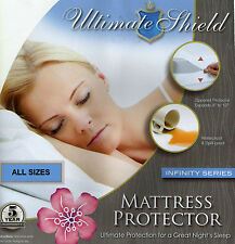 Bed Bug/Allergy Relief Mattress+Box Spring Cover/Protector Cotton Topper 6 SIZE