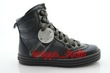 A11X  scarpe HOGAN junior HXC14109360644098F REBEL BASKET ANKLE BOOT