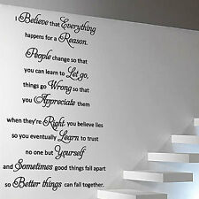 MARILYN MONROE I Believe Art Quote Wall Stickers Window Stickers Wall Decals