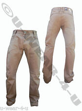 "MENS KHAKI CROSSHATCH STRAIGHT LEG CHINO TROUSERS. FROM SIZES 28"" TO 36"""