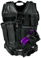 NcSTAR PVC Heavy Duty Tactical Vest for Hunting/Airsoft Paintball -- **BLACK**