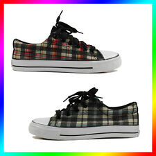 New Canvas Sneaker Checked Shoe Lace up Women/Man/Kids Size 3,4,5,6,7,8,9,10,11
