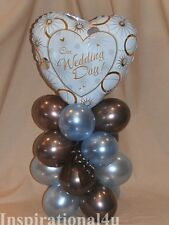 BLUE & BROWN BIRTHDAY/ ENGAGMENT/ WEDDING TABLE BALLOON DECORATION CENTERPIECE