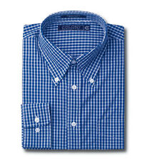 Men's Dress Shirt Grid Iron Check 100% Cotton 80's/2 ply Wrinkle Free