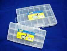 SET OF 2 TOOLBOX 10.5'' & 9'' ORGANISER 18 SLOT STORAGE DIY TOOL BOX SCREWS NAIL