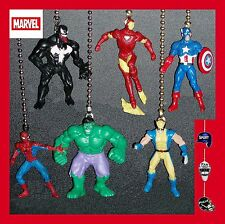 MARVEL MINIATURE ALLIANCE FIGURES CEILING FAN PULLS-HULK, SPIDER-MAN, VENOM, ETC