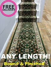 Carpet Runner Rug Persian Dark Green 70cm wWide Any Length Hall Hallway Stair