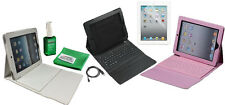 Leather Case Folio Stand With Built-in Bluetooth Keyboard For iPad 2  iPad 3 4