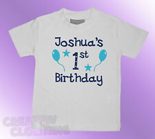 Baby Toddler T-Shirt BOYS - Its (name) 1st 2nd 3rd birthday PERSONALISED