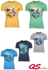 QS By S. Oliver T-SHIRT SUMMER BEACH Festival TG S, M, L, XL, XXL 5 Colori Nuovo