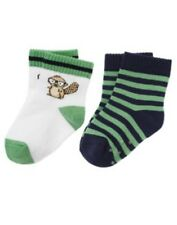 GYMBOREE SMART LITTLE GUY BEAVER 2-PAIR OF BOYS SOCKS 3 6 12 18 NWT